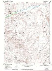 7.5' Topo Map of the Barras Springs, WY Quadrangle