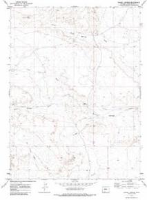 7.5' Topo Map of the Barrel Springs, WY Quadrangle
