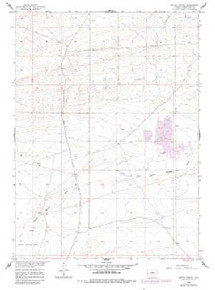 7.5' Topo Map of the Battle Spring, WY Quadrangle