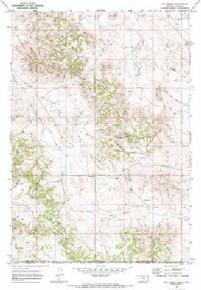 7.5' Topo Map of the Bay Horse, MT Quadrangle