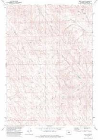 7.5' Topo Map of the Bear Draw, WY Quadrangle