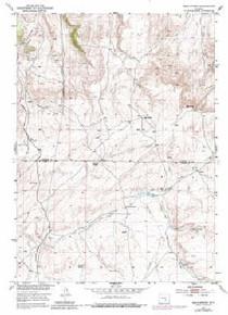 7.5' Topo Map of the Bear Spring, WY Quadrangle