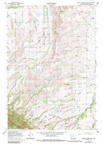 7.5' Topo Map of the Beaver Creek Hills, WY Quadrangle