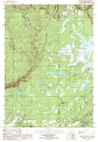 7.5' Topo Map of the Bechler Falls, WY Quadrangle