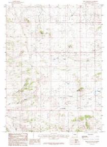 7.5' Topo Map of the King Mountain, WY Quadrangle