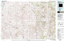 USGS 30' x 60' Metric Topographic Map of Nowater Creek, WY Quadrangle