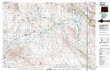 USGS 30' x 60' Metric Topographic Map of Powell, WY Quadrangle