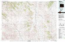 USGS 30' x 60' Metric Topographic Map of Recluse, WY Quadrangle