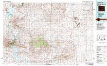 USGS 30' x 60' Metric Topographic Map of Shirley Basin, WY Quadrangle