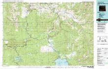 USGS 30' x 60' Metric Topographic Map of Yellowstone Park N, WY Quadrangle