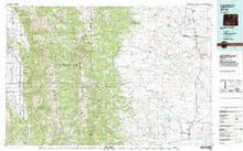 USGS 30' x 60' Metric Topographic Map of Afton, WY Quadrangle