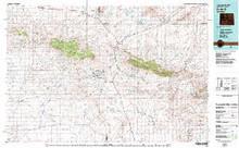 USGS 30' x 60' Metric Topographic Map of Bairoil, WY Quadrangle