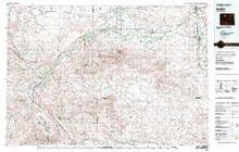 USGS 30' x 60' Metric Topographic Map of Basin, WY Quadrangle