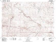 USGS 30' x 60' Metric Topographic Map of Chugwater, WY Quadrangle