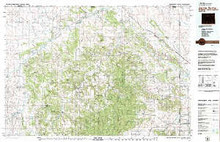USGS 30' x 60' Metric Topographic Map of Devils Tower, WY Quadrangle