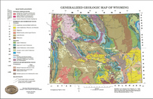 Generalized Geologic Map of Wyoming (2000)