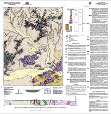 Geologic Map of the Stampede Meadow Quadrangle, Fremont County, Wyoming (2013)
