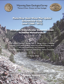 Platte River Basin Water Plan Update, Level I (2009–2013): Available Groundwater Determination (2013)