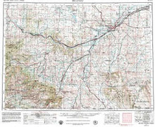 USGS 1° x 2° Area Map Sheet of Billings, MT Quadrangle