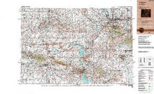 USGS 1° x 2° Area Map Sheet of Casper, WY Quadrangle
