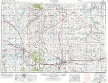 USGS 1° x 2° Area Map Sheet of Cheyenne, WY Quadrangle