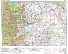 USGS 1° x 2° Area Map Sheet of Cody, WY Quadrangle
