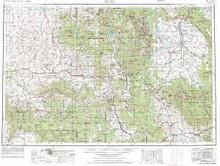 USGS 1° x 2° Area Map Sheet of Craig, CO Quadrangle
