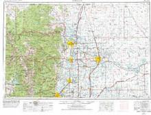 USGS 1° x 2° Area Map Sheet of Greeley, CO Quadrangle