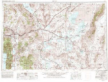 USGS 1° x 2° Area Map Sheet of Reno, NV Quadrangle