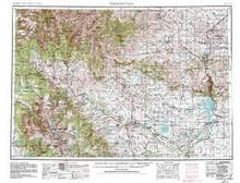 USGS 1° x 2° Area Map Sheet of Thermopolis, WY Quadrangle