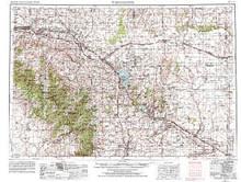 USGS 1° x 2° Area Map Sheet of Torrington, WY Quadrangle