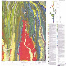 Geologic map and structure sections of the Cokeville 30' Quadrangle, Lincoln and Sublette counties Wyoming