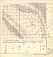 Geologic and Structure Map of the Sussex and Meadow Creek Oilfields and Vicinity, Johnson and Natrona Counties, Wyoming