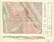Geologic and Structure Map of the North Fork Oil Field, Kaycee Dome, and Vicinity, Johnson County, Wyoming