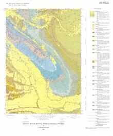 Geologic Map of Greybull North Quadrangle, Wyoming (1986)