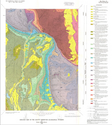 Geologic Map of the Leavitt Reservoir Quadrangle, Wyoming (1989)
