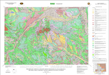 Preliminary Surfical Geologic Map of the Basin 30' x 60' Quadrangle, Big Horn, Park, Washakie and Hot Springs Counties, Wyoming (2003)