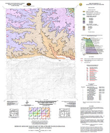 Bedrock Geologic Map of Part of the Antelope Wash Quadrangle, Sweetwater County, Wyoming (2007)