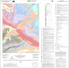Revised Geologic Map of the Miners Delight Quadrangle, Fremont County, Wyoming (2006)