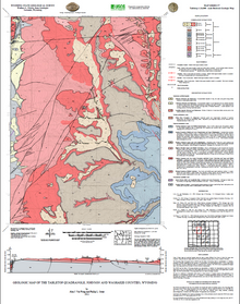 Geologic Map of the Tabletop Quadrangle, Johnson and Washakie Counties, Wyoming (2011)