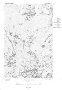 Preliminary Geological Map of the Sand Lake Quadrangle, Wyoming (1977)