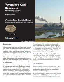 Wyoming's Coal Resources: Summary Report (2015)