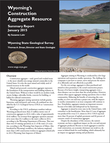 Wyoming's Construction Aggregate Resource: Summary Report (2015)