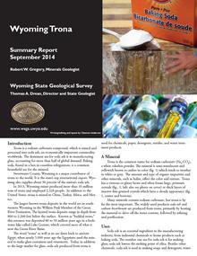 Wyoming Trona: Summary Report (2014)