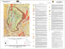 Geologic Map and Oil and Gas Fields of the Rock Springs Uplift Area, Sweetwater County, Southwestern Wyoming (2007)