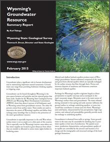 Wyoming's Groundwater Resource: Summary Report (2015)