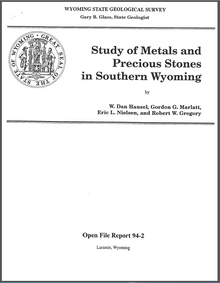 Study of Metals and Precious Stones in Southern Wyoming (1994)