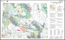 Industrials Minerals and Construction Materials Map of Wyoming (2004)