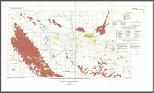 Oil and Gas Fields Map of the Wind River Basin, Wyoming (1991)