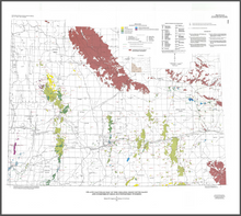 Oil and Gas Fields Map of the Greater Green River Basin and Overthrust Belt, Southwestern Wyoming (1991)